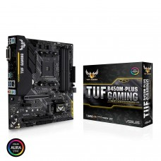 Placa Madre ASUS TUF B450M-PLUS GAMING AMD Ryzen AM4 B450 SATA 6Gb/s USB 3.1 HDMI M.2 Micro ATX