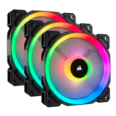 Corsair Fans x3 LL120 RGB LED 120mm Lighting Node PRO