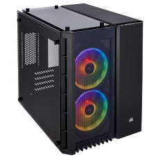 Gabinete Gamer Corsair Crystal Series 280X RGB Tempered Glass Micro ATX - Black
