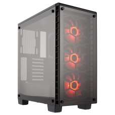 Corsair Carbide Crystal Series 460X RGB Compact ATX Mid Tower - White