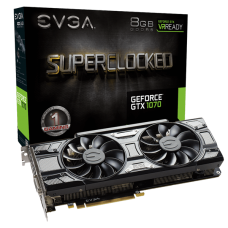 EVGA GeForce GTX 1070 SC GAMING Black Edition 8GB GDDR5 PCI Express x16 3.0 ACX